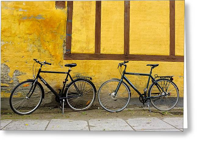 Bicycles Aarhus Denmark Greeting Card