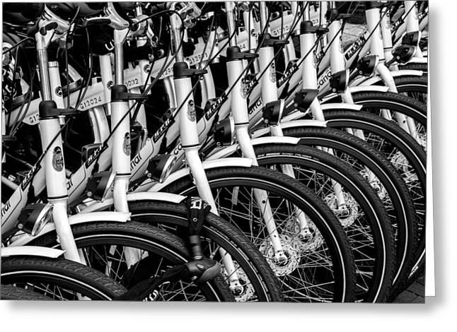 Bicycles Bicycles Bicycles Greeting Card