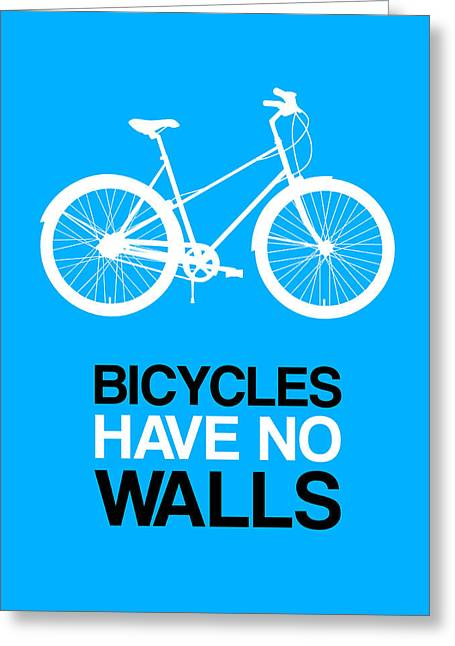 Bicycles Have No Walls Poster 2 Greeting Card by Naxart Studio