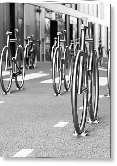 Bicycles Parking Greeting Card