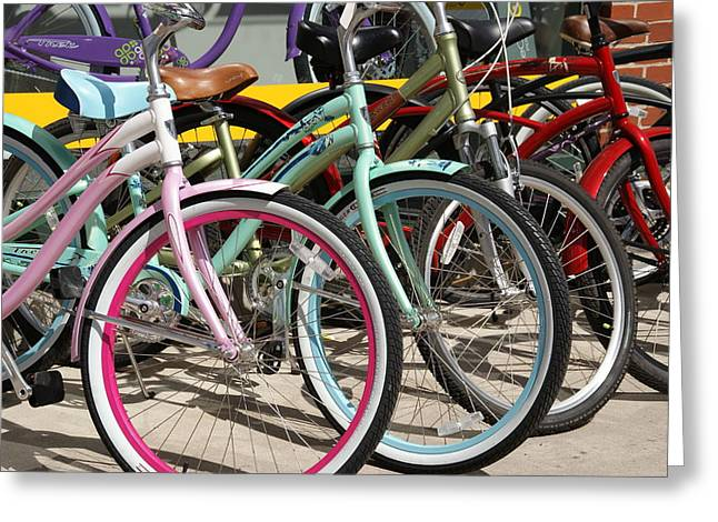 Bicycles Greeting Card by Thomas Fouch