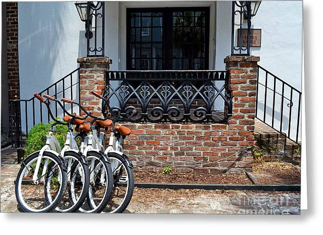 Bicycles In Charleston Greeting Card