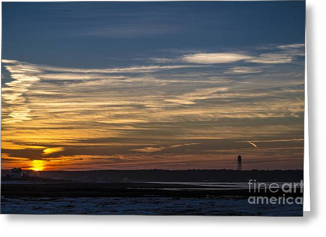 Biddeford Pool Maine Sunset Greeting Card by Patrick Fennell