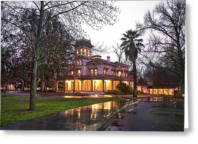 Bidwell Mansion In The Rain  Greeting Card