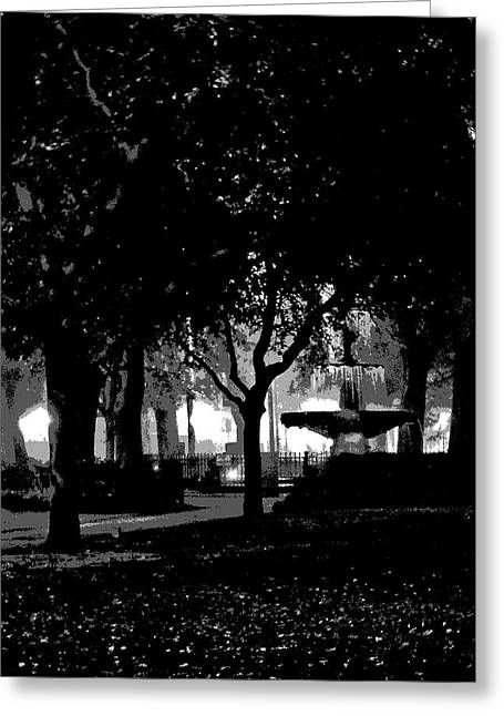 Bienville Square Fountain Posterized Greeting Card