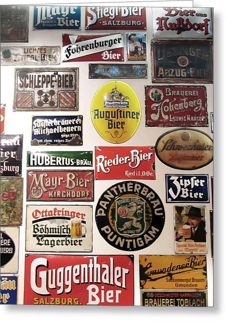 Bier Wall Greeting Card