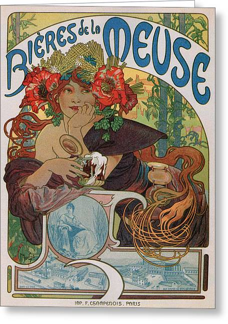 Bieres De La Meuse Greeting Card by Charlie Ross