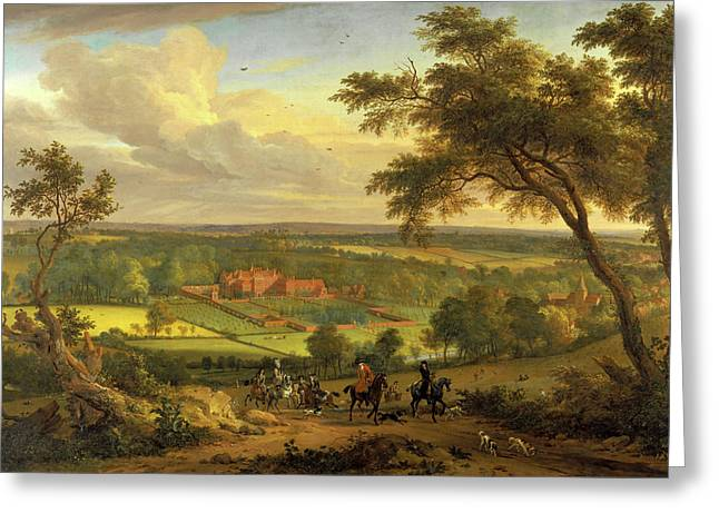 Bifrons Park, Kent Hunting Scene With Brifons Park Greeting Card by Litz Collection