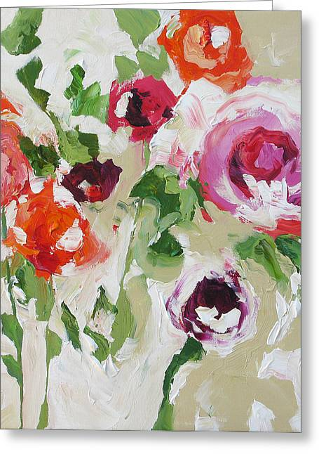 Big And Bold Greeting Card by Linda Monfort