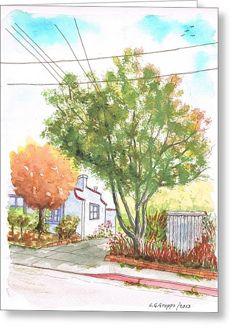 Big And Small Trees In West Hollywood - California Greeting Card