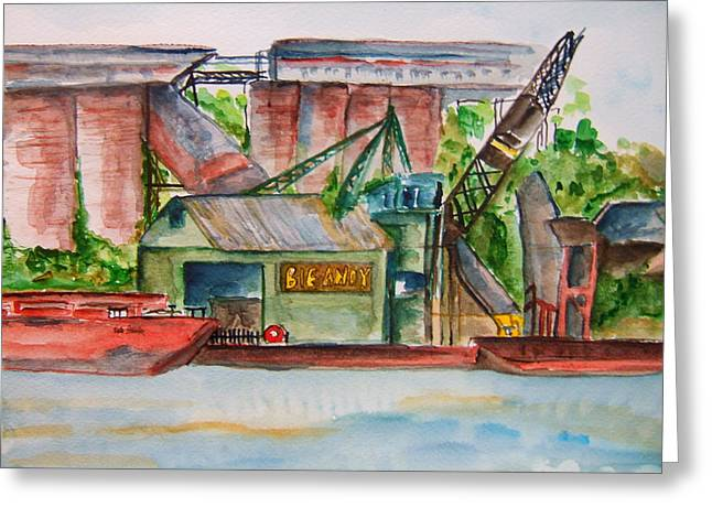 Big Andy Terminal On Ohio River Greeting Card by Elaine Duras