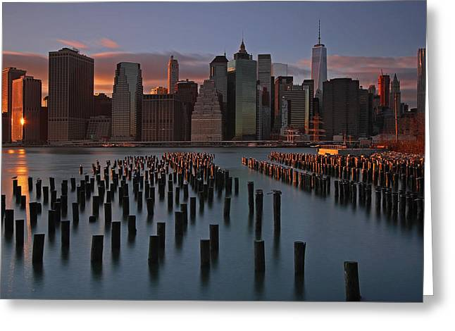 Big Apple Greeting Card by Juergen Roth