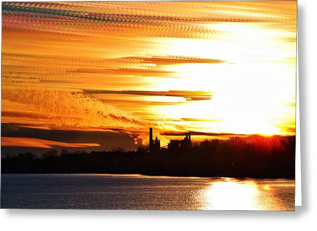 Big Ball Of Fire Greeting Card by Matt Molloy