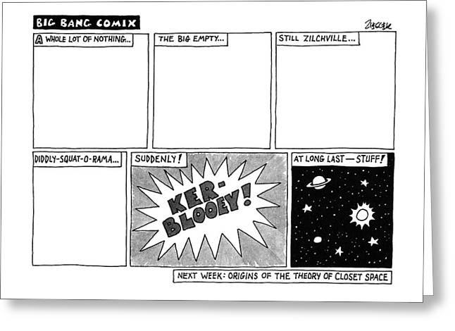 Big Bang Comix Greeting Card