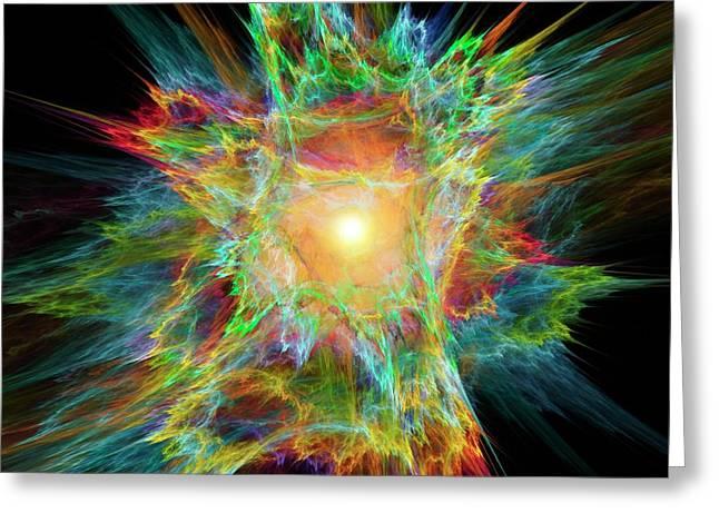 Big Bang Conceptual Artwork Greeting Card