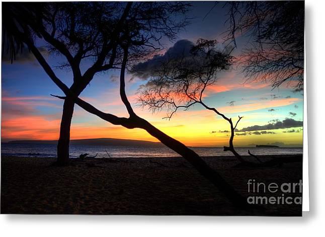 Big Beach Sunset Greeting Card