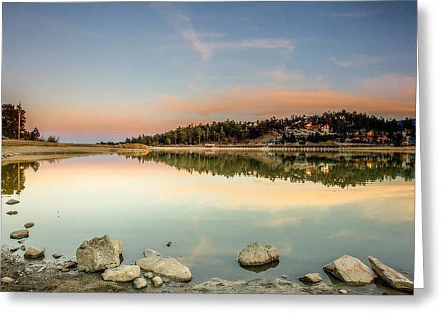Big Bear Lake Greeting Card by Robert  Aycock