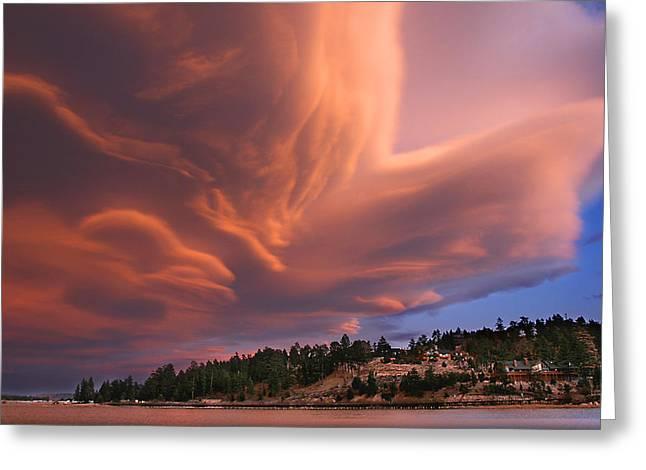 Big Bear Lake Storm Greeting Card