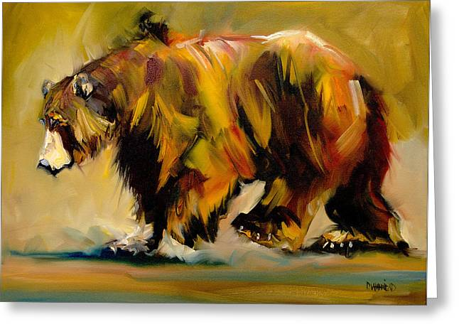 Big Bear Walking Greeting Card