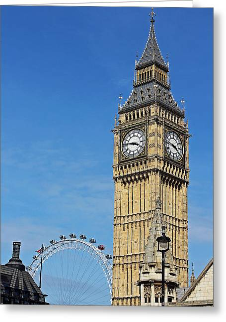 Big Ben And London Eye Greeting Card