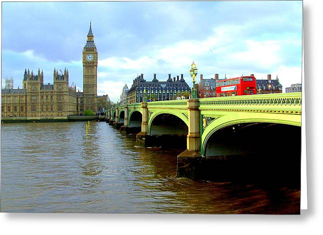 Big Ben And River Thames Greeting Card