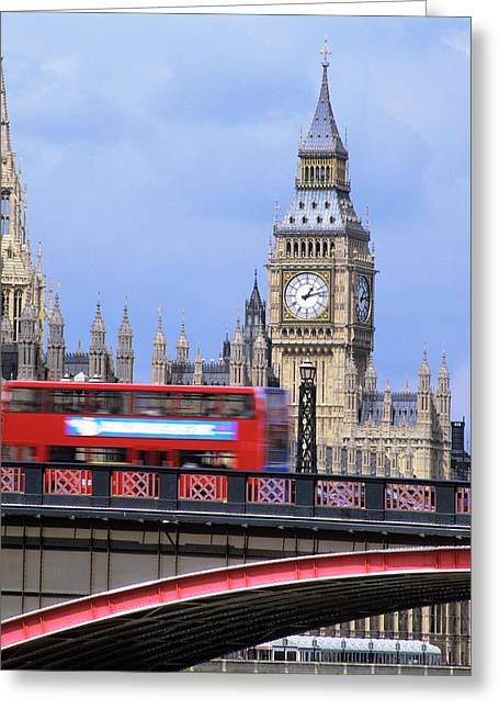 Big Ben And The Houses Of Parliament Greeting Card by Mark Thomas/science Photo Library