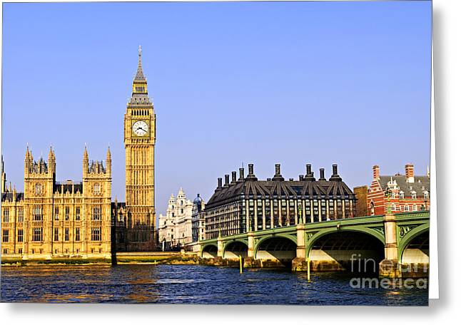 Big Ben And Westminster Bridge Greeting Card by Elena Elisseeva