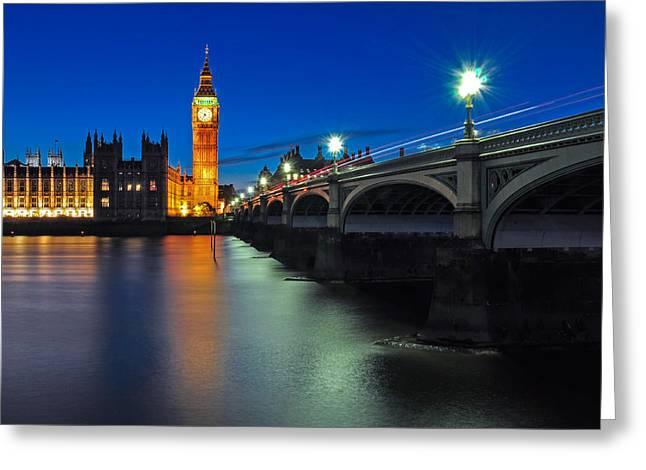 Big Ben And Westminster Bridge Greeting Card