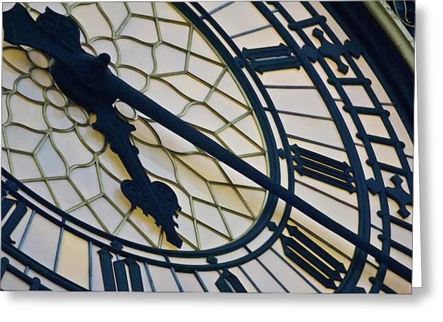 Big Ben Clock Face, London, England Greeting Card