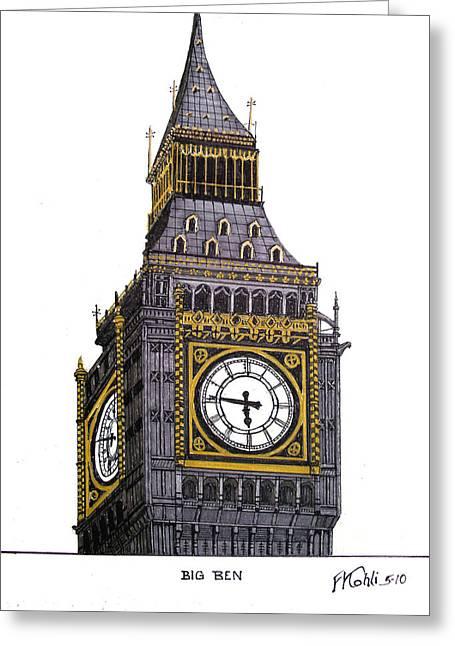 Big Ben Greeting Card by Frederic Kohli