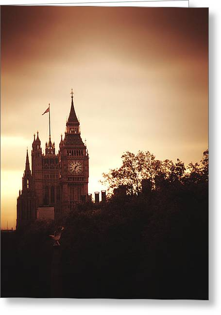 Big Ben In Sepia Greeting Card