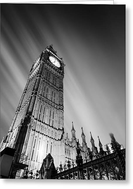 Big Ben London Greeting Card by Ian Hufton