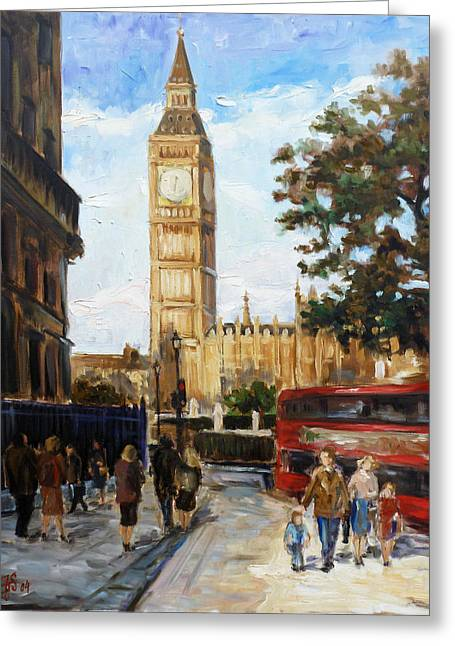 Big Ben - London Greeting Card by Irek Szelag