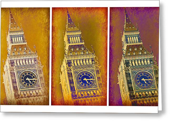 Big Ben Triptych 1 Greeting Card by Stephen Stookey