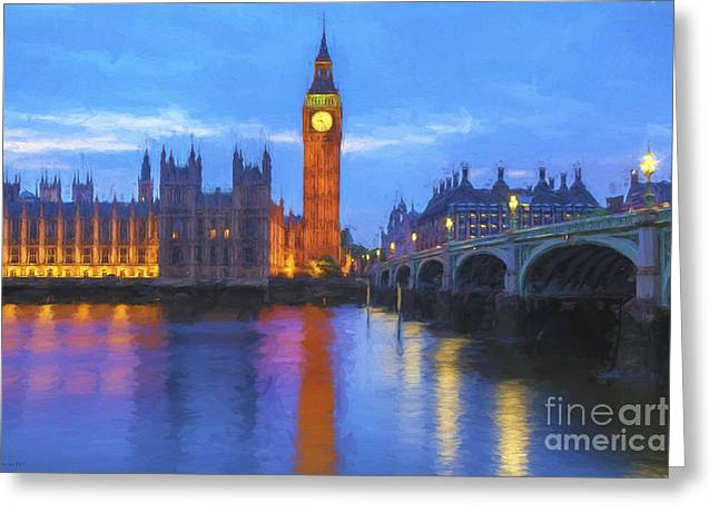 Big Ben Greeting Card by Veikko Suikkanen