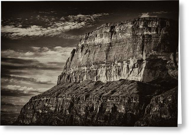 Big Bend Cliffs Greeting Card