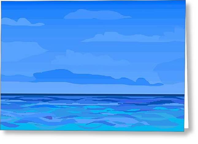 Big Blue 2 Greeting Card by Alice Butera