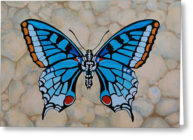 Big Blue Butterfly Greeting Card