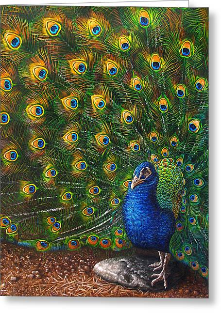 Big Blue Greeting Card by Cara Bevan