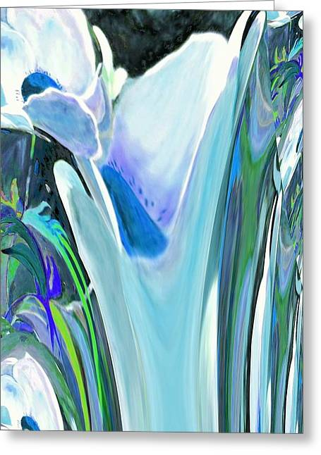 Big Blue Flower Greeting Card