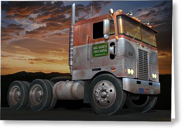 Big Bob's Cabover Greeting Card
