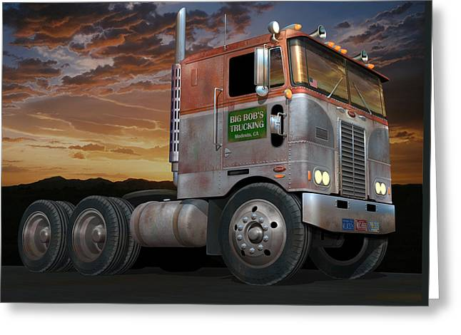 Big Bob's Cabover Greeting Card by Stuart Swartz