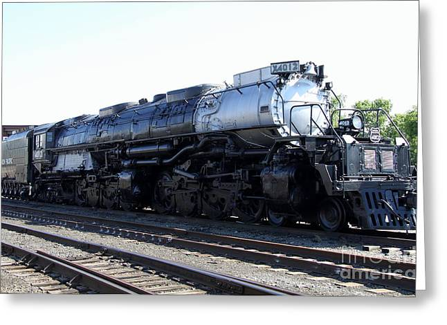 Big Boy - Union Pacific Railroad Greeting Card by Christiane Schulze Art And Photography
