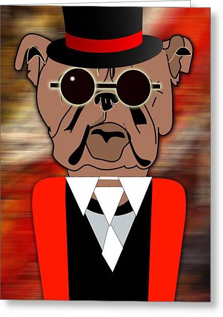 Big Bull Dog Greeting Card