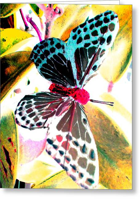 Greeting Card featuring the digital art Big Butterfly by Nico Bielow