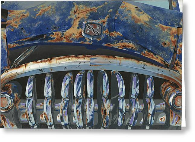 Big Buxom Buick Greeting Card by John Wyckoff