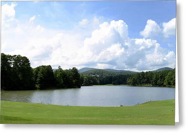 Big Canoe Golf Greeting Card by Bob Jackson