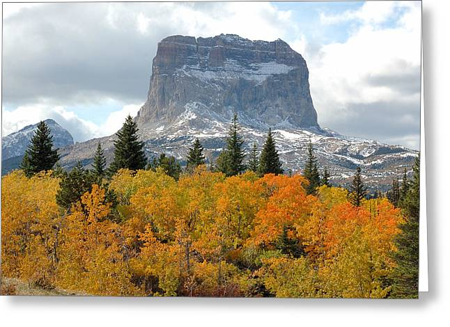 Big Chief Mountain - The Rock Of Legend Greeting Card by Clay and Gill Ross