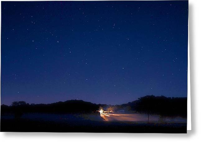 Big Dipper In The Valley Greeting Card by Larry Bodinson