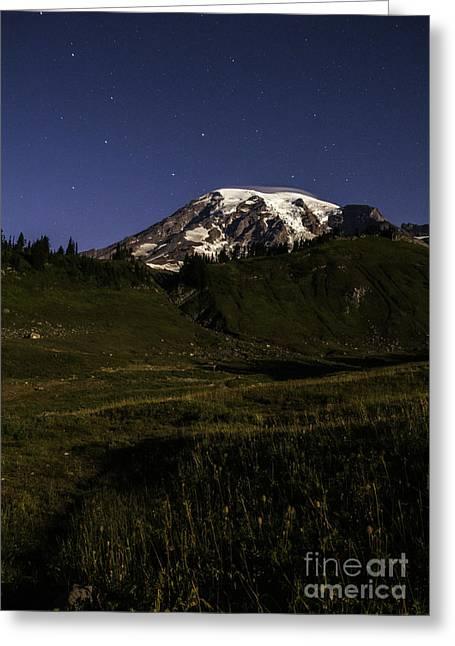 Big Dipper Over Mt Rainier Greeting Card